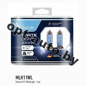 Автолампы Clearlight H11 12V-55W WhiteLight (2 шт.)